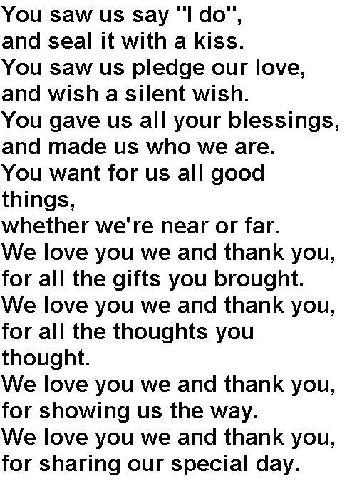 Thank You | lindsayandnathanzak: http://lindsayandnathanzak.com/thank-you/